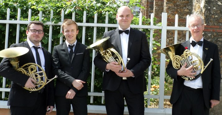 The Leicester symphony orchestra horn section for Paris 2018