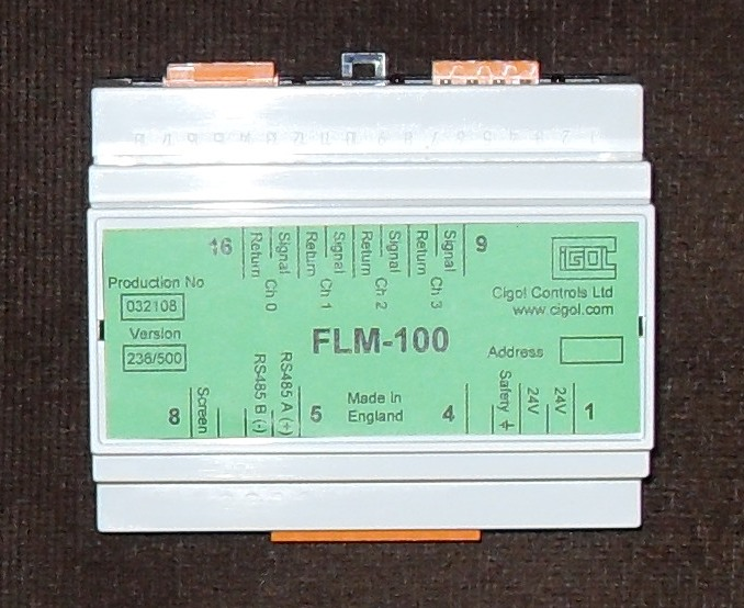 Picture of FLM-100 4 Channel Water Flow Sensor Interface